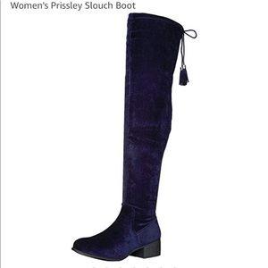 Steve MADDEN GIRL Prissley Navy fabric boot - 7.5